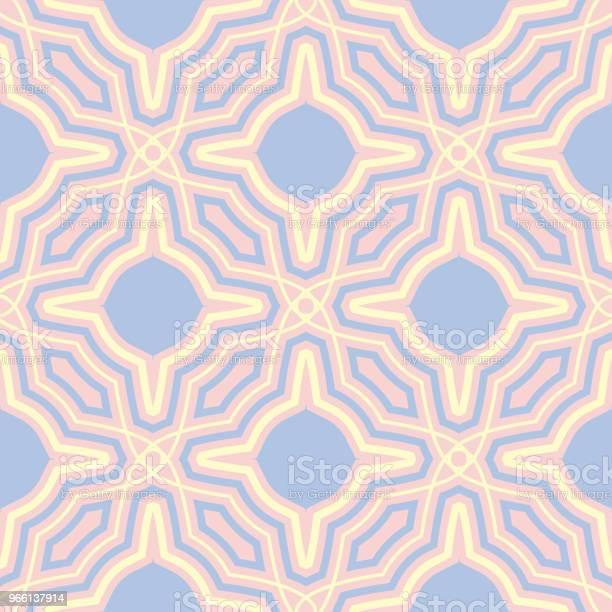 Pink Geometric Seamless Background Multi Colored Pattern — стоковая векторная графика и другие изображения на тему Абстрактный