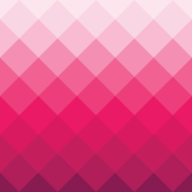 bildbanksillustrationer, clip art samt tecknat material och ikoner med rosa geometriska kvadratiska bakgrund i vektor - rosa bakgrund