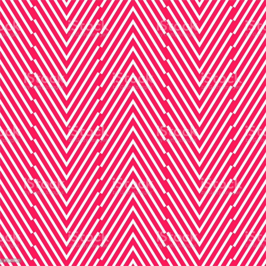 Pink geometrical zigzag pattern. vector art illustration