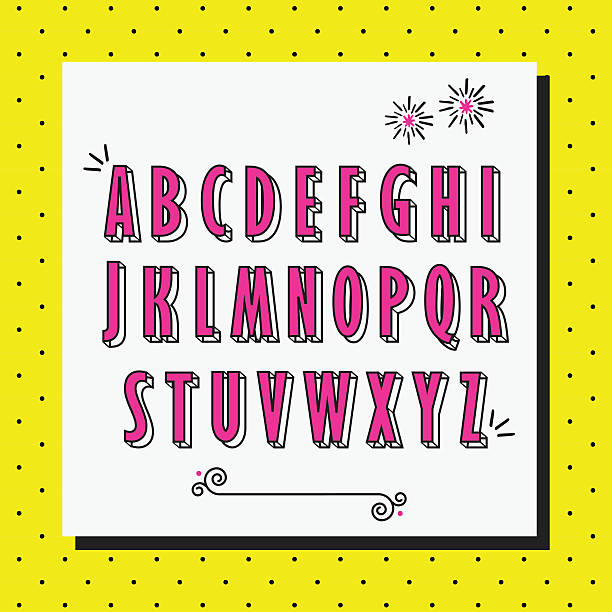 Royalty Free Background Of A Girly Alphabet Fonts Clip Art Vector