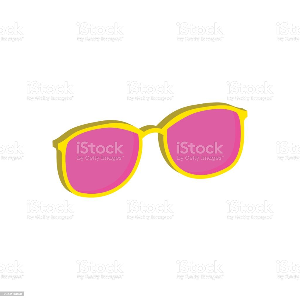 Pink Glasses Eyeglasses Symbol Flat Isometric Icon 3d Style