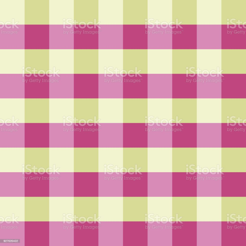 Pink Green Gingham Tablecloth Seamless Vector Background Pattern Design  Royalty Free Pink Green Gingham Tablecloth