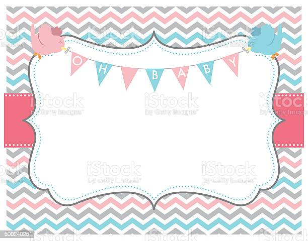 Pink grey chevron oh baby card with birds vector id500240251?b=1&k=6&m=500240251&s=612x612&h=li8avlyhnjeun4xdshol0bv96b22yaq5zjygzlidukk=