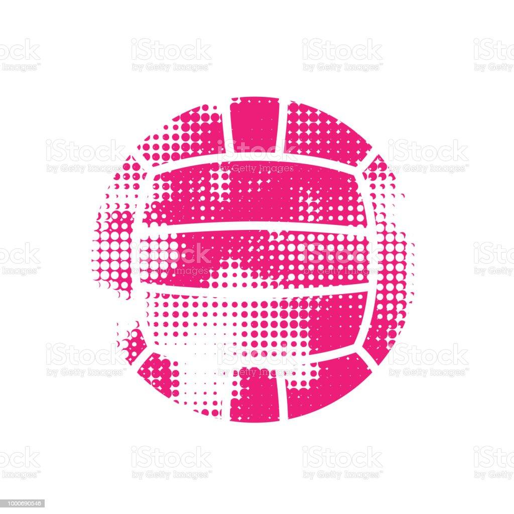 Bola de polo acuático de tono medio rosado - ilustración de arte vectorial