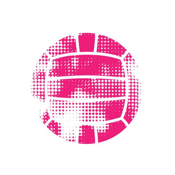 ilustrações, clipart, desenhos animados e ícones de bola de polo aquático de meio-tom rosa - voleibol