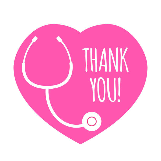 illustrazioni stock, clip art, cartoni animati e icone di tendenza di pink heart and stethoscope - personale medico