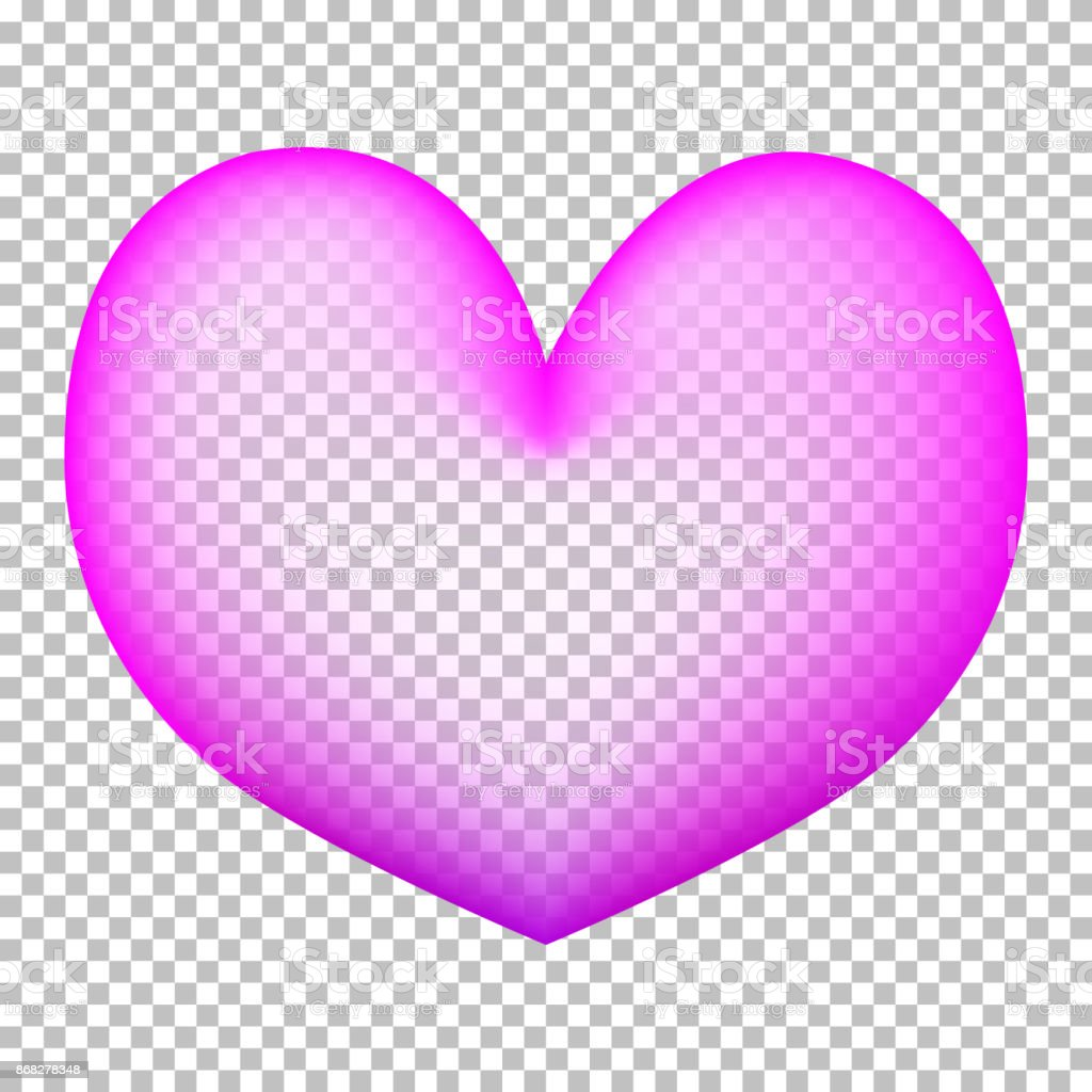 Corazón De Color Rosa Sobre Fondo Transparente Globo Corazón Con ...