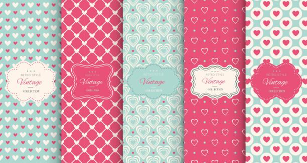 pink heart seamless pattern background - 美麗的人 幅插畫檔、美工圖案、卡通及圖標