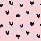 Pink heart shape brushstrokes pattern for valentine's day, fashion prints, patterns and backgrounds