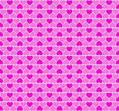 Pink heart shapes, seamless background tile