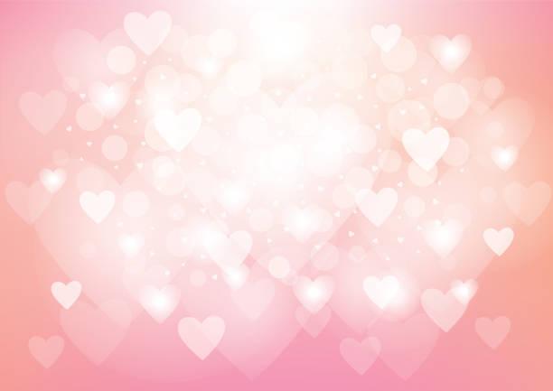 bildbanksillustrationer, clip art samt tecknat material och ikoner med pink heart valentine's day background - rosa bakgrund