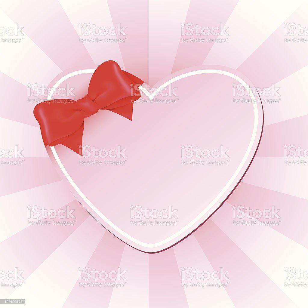 Pink heart royalty-free stock vector art