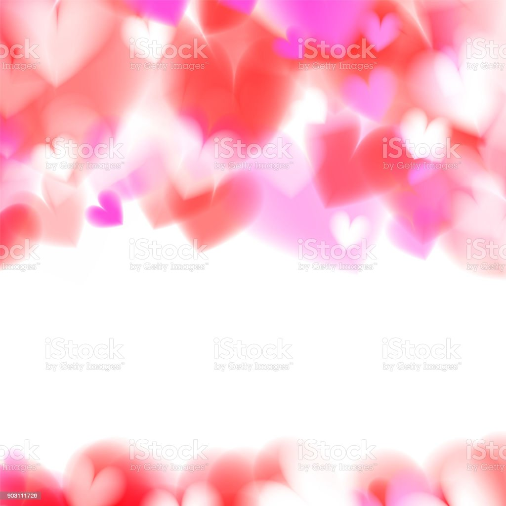 Pink Hearts Bokeh Light Valentines Day Background Eps 10 Tender