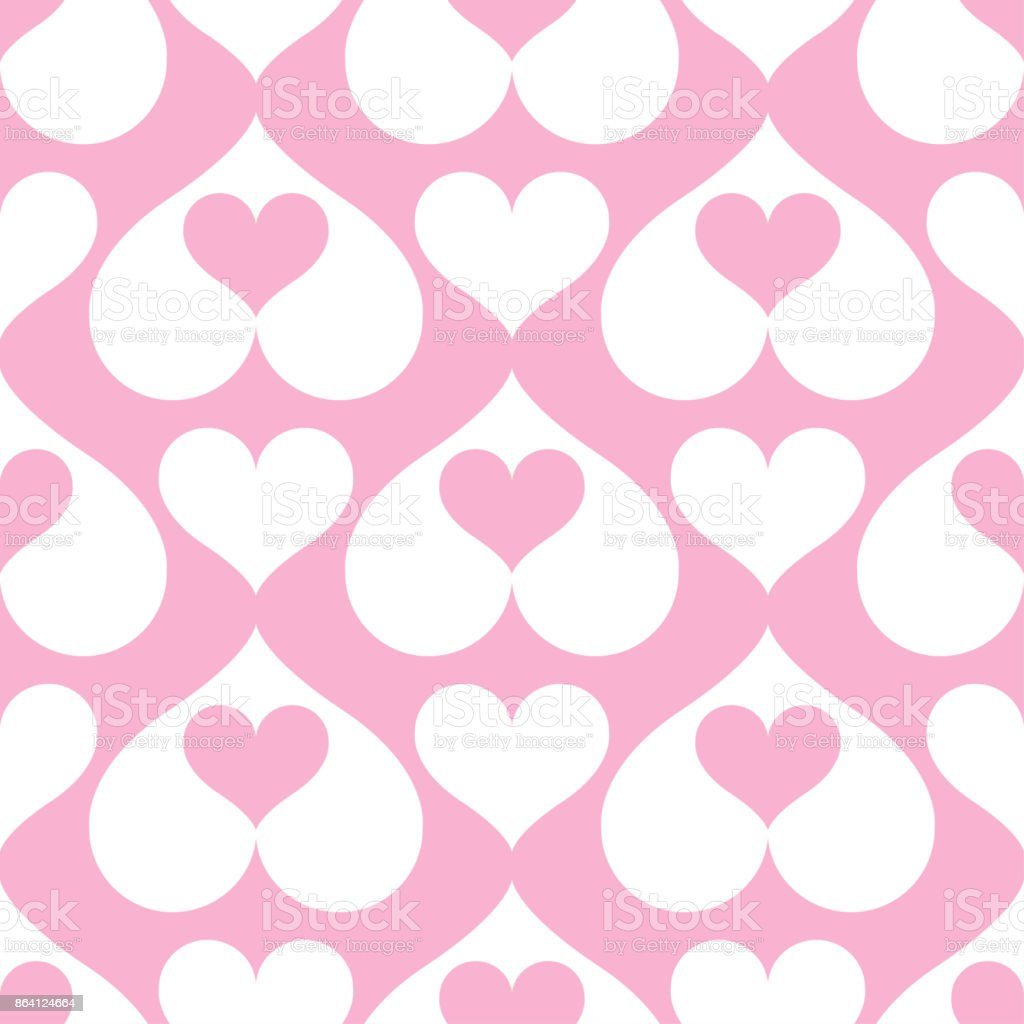 Pink hearts seamless background pattern royalty-free pink hearts seamless background pattern stock vector art & more images of abstract
