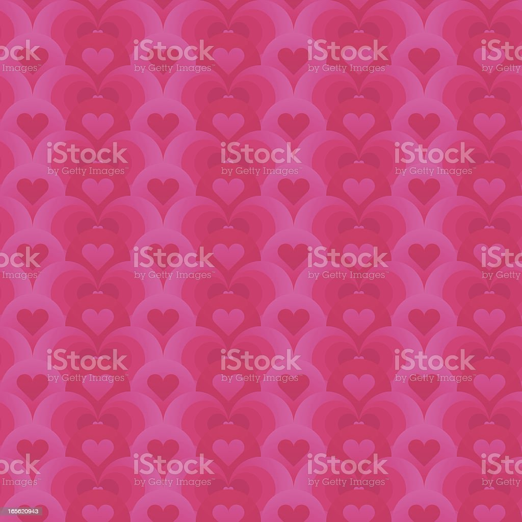 Pink hearts seamless vector art illustration