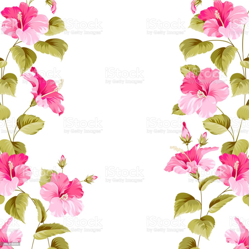 A pink hibiscus flower pattern as a border stock vector art more a pink hibiscus flower pattern as a border royalty free a pink hibiscus flower pattern izmirmasajfo Gallery
