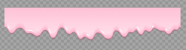 핑크 아이스크림 textureseamless 패턴 배경 화면입니다. 아이스크림 반복 벡터 일러스트입니다. 파스텔 미니 배경입니다. - ice cream stock illustrations