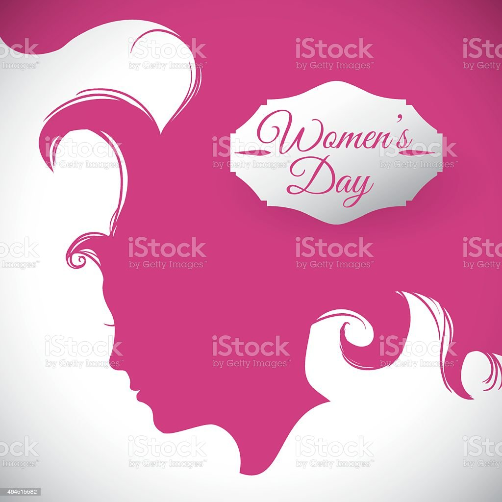 Pink illustrated vector for Women's Day vector art illustration