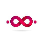 Pink Infinity symbol. Vector icon. icon design