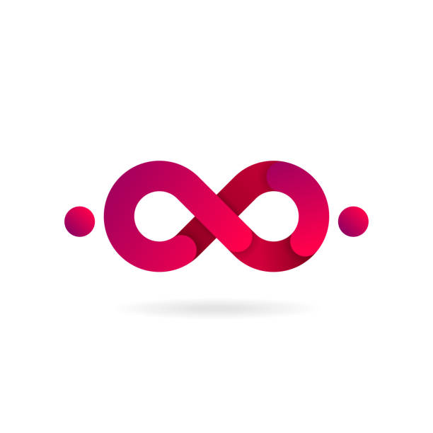Pink Infinity symbol. Vector icon. icon design. Pink Infinity symbol. Vector icon. icon design infinity stock illustrations