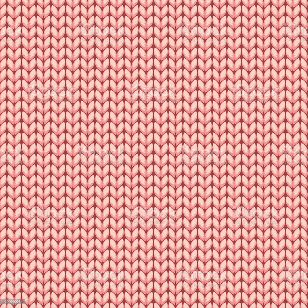 Pink Knitted Sweater Material Seamless Pattern stock vector art ...