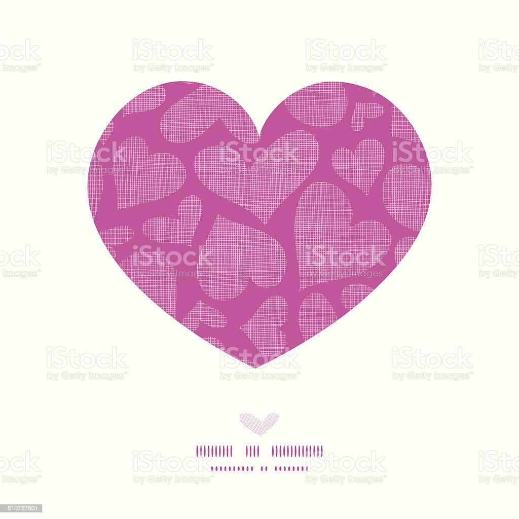 Cuore Di Pizzo Rosa Tessuto Tessile Cornice Sfondo Modello Heart