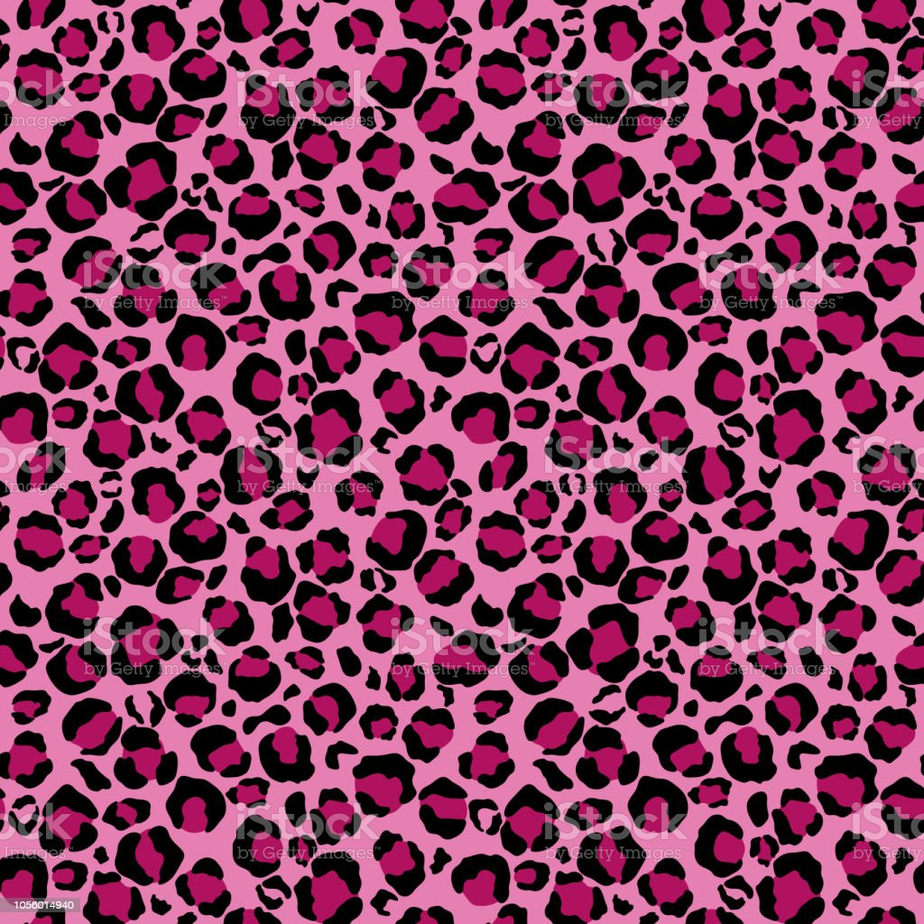 Pink Leopard Print Seamless Pattern Stock Vector Art ...