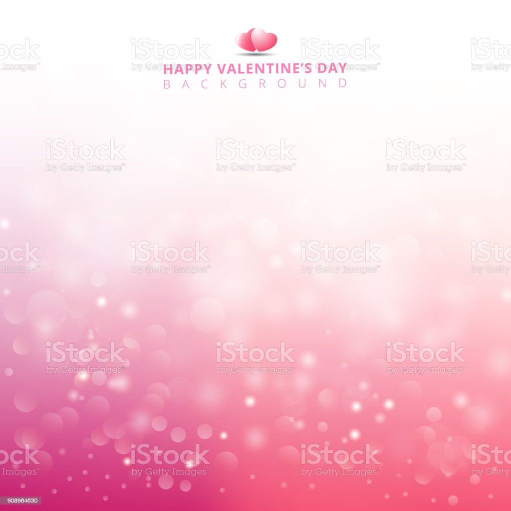 Pink light background abstract design vector illustration blur circle bokeh for valentines day vector art illustration