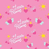 Pink little princess pattern vector
