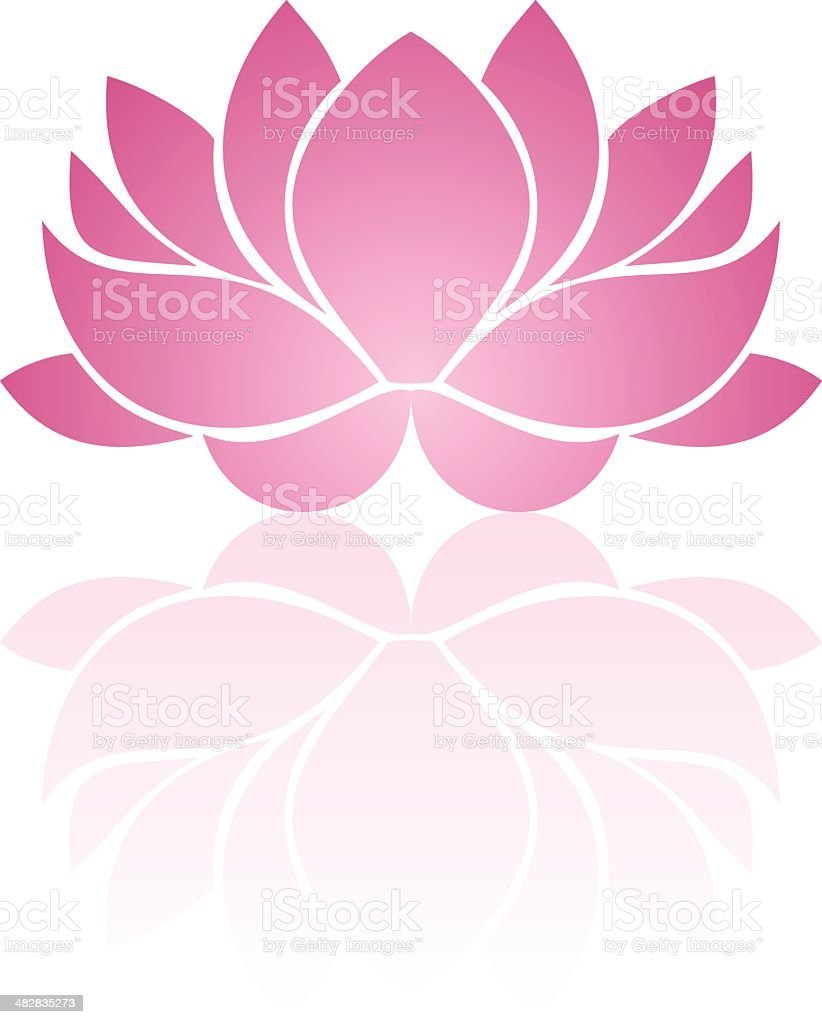 Pink lotus. Eps-10 vector illustration. vector art illustration