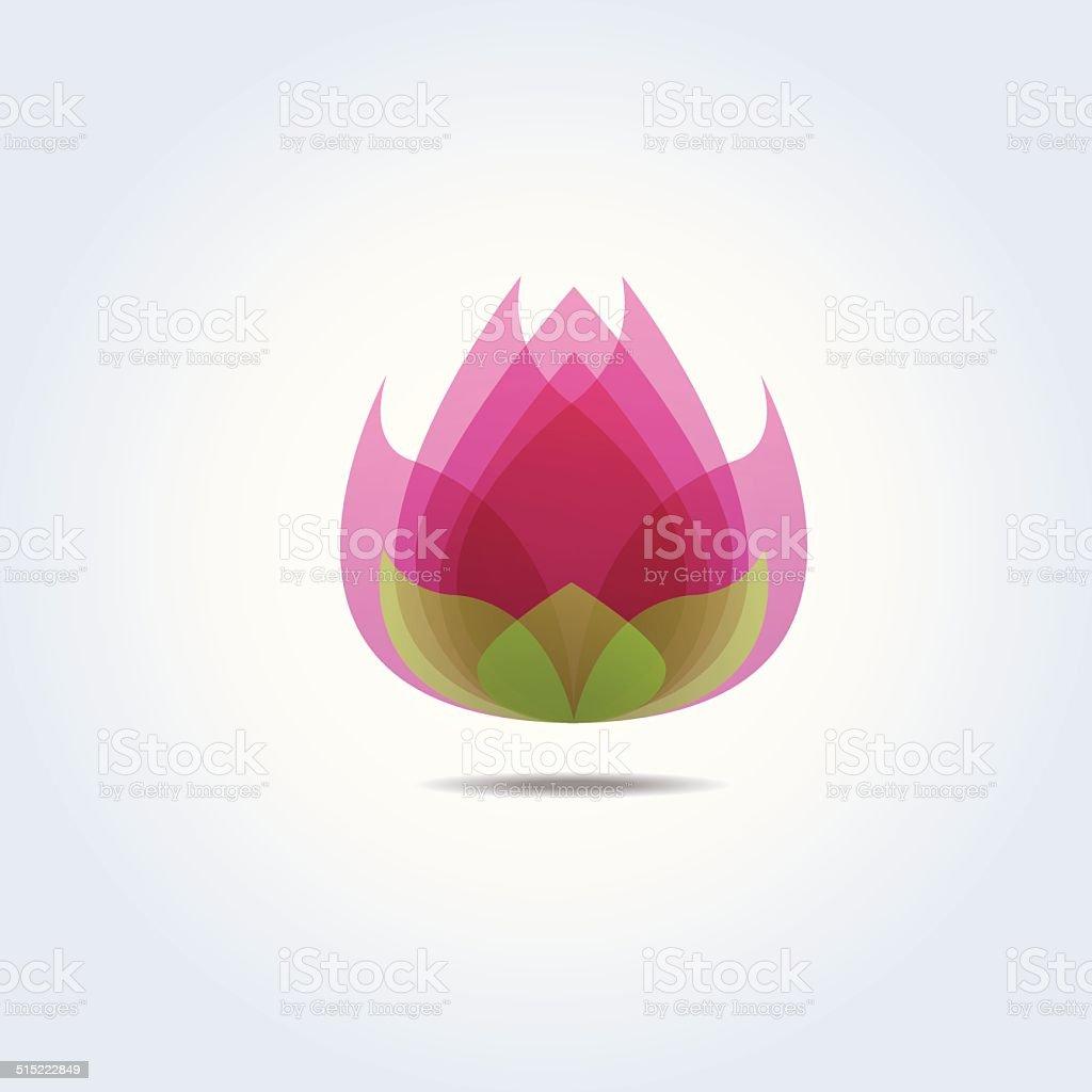 Pink Lotus Flower Icon Vector Illustration vector art illustration