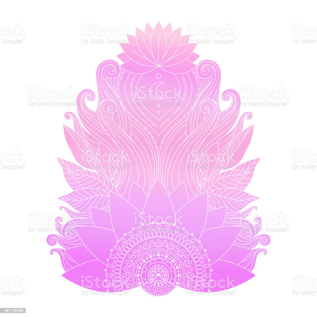Pink Lotus Flower Isolated Vector Stock Vector Art More Images Of