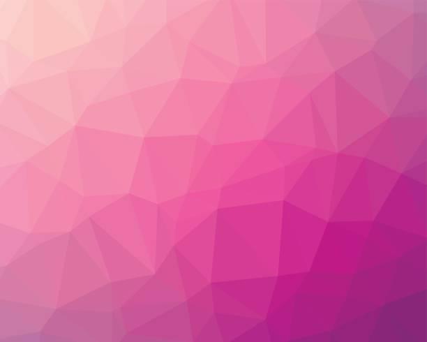 rosa low-poly-hintergrund - alpenveilchen stock-grafiken, -clipart, -cartoons und -symbole