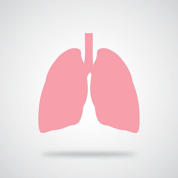 stockillustraties, clipart, cartoons en iconen met pink lungs icon - longen