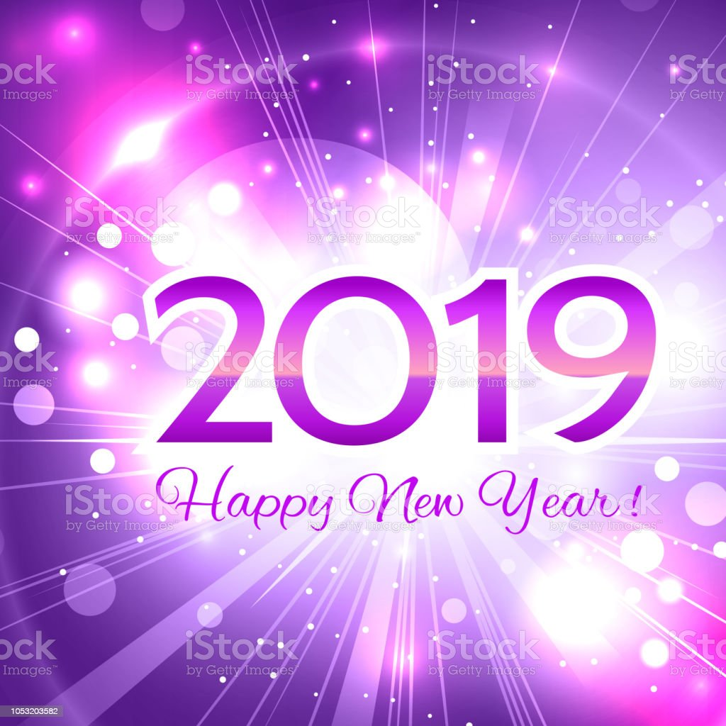 2019 pink number happy new year greeting card royalty free 2019 pink number happy new