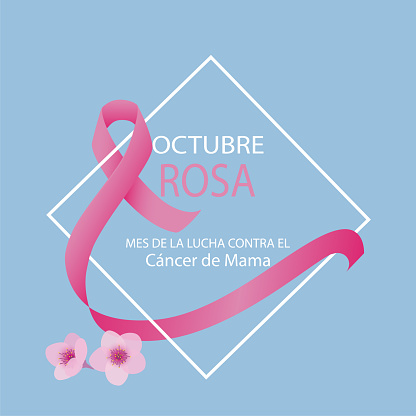 Pink October breast cancer awareness month in Spanish