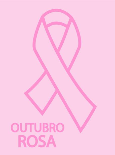 포르투갈어로 핑크 10 월. 10 월 핑크 벡터. - outubro rosa stock illustrations
