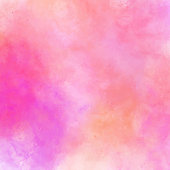 Pink, Orange and Yellow Abstract Wall Texture with Watercolor Brush Strokes. Pastel Colored Abstract Watercolor Brush Strokes Background. Watercolor abstract background texture for cards, party invitation, packaging, surface design.