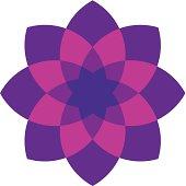 Pink ornament flower decoration logo icon