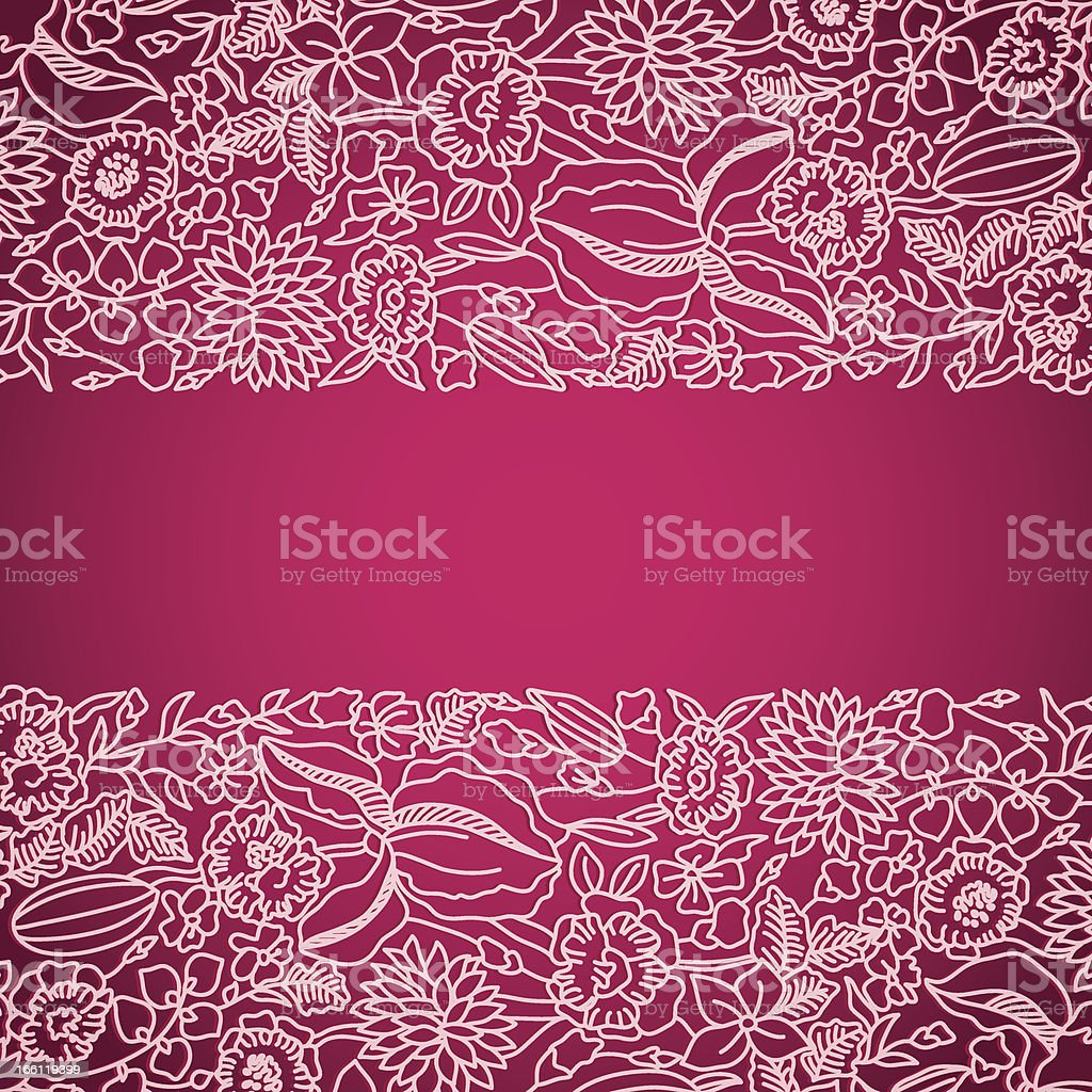 Pink ornamental card with lace royalty-free stock vector art
