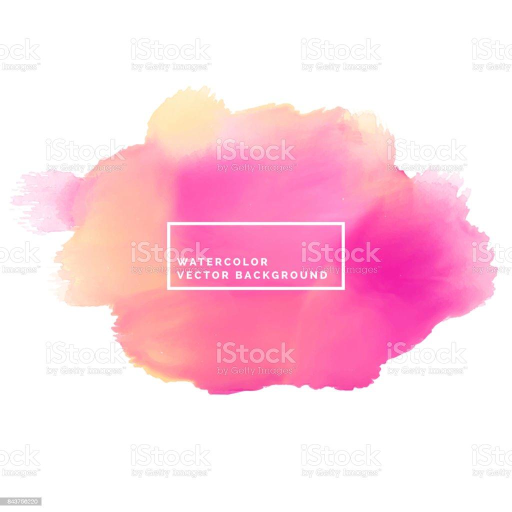 Fondo acuarela de pintura rosa brish movimiento - ilustración de arte vectorial