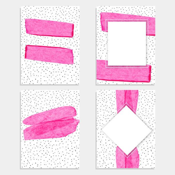 粉紅色油漆刷帶紋理的背景為促銷橫幅 - 女性化 幅插畫檔、美工圖案、卡通及圖標