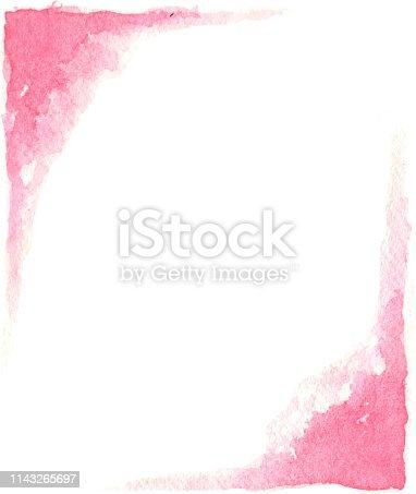 pink paint splash corner designs