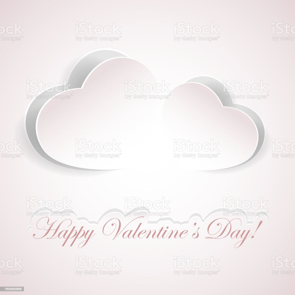 Pink paper hearts royalty-free stock vector art