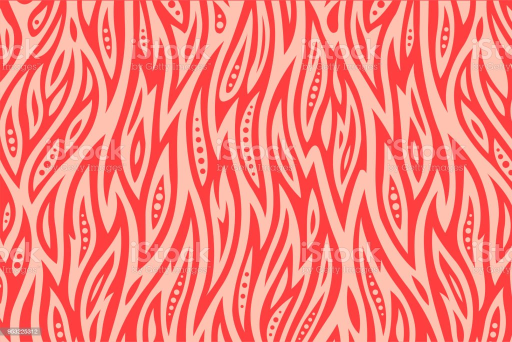 Pink pattern with fire