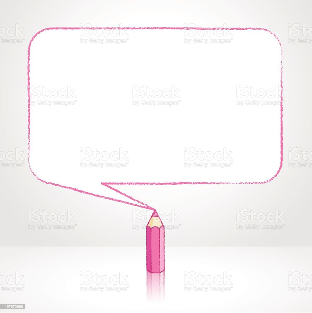 Monture Rectangulaire Rose Dessin Au Crayon Douce Discours Ballon