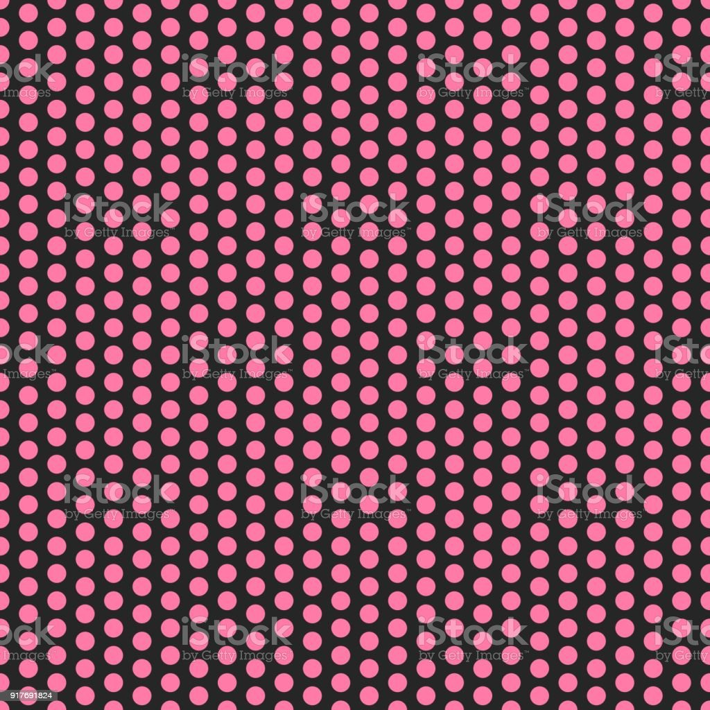 Pink Polka Dots On Black Background Seamless Pattern Wallpaper Texture Banner Label