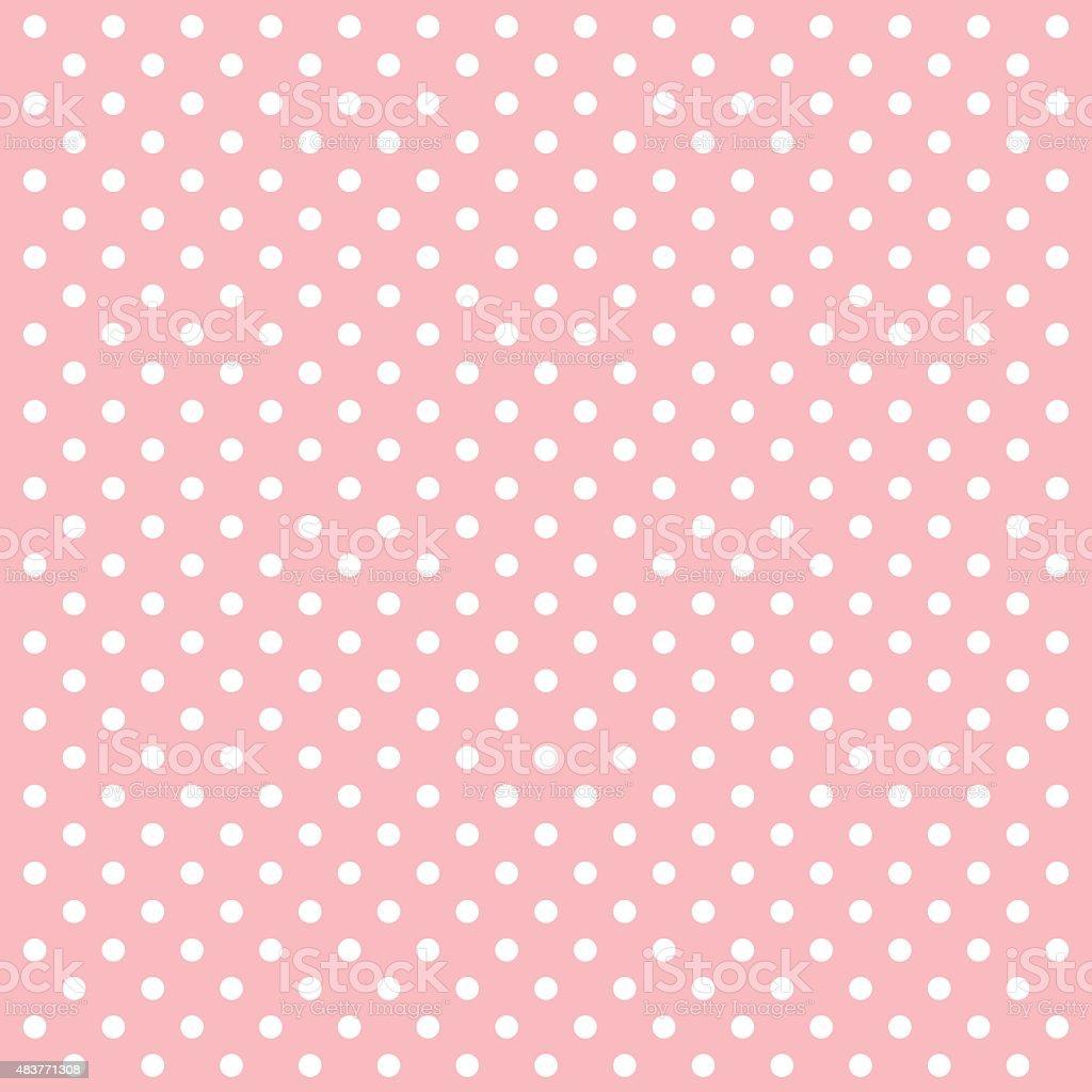 Pink Polka Dots Vector Background - VECTOR vector art illustration