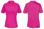 Pink Polo Shirt Template for Woman