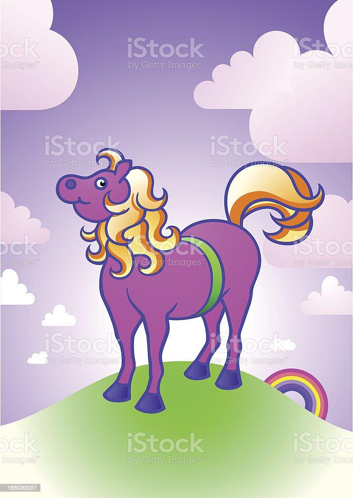 pink pony royalty-free stock vector art